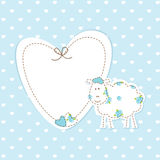 Baby blue background with sheep Royalty Free Stock Photography