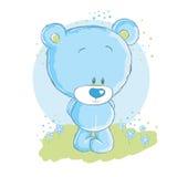 Baby blue bear vector illustration
