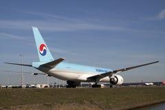 Baby blue cargo plane. Stock Photos