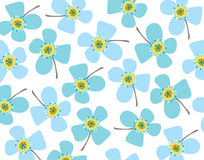 Baby blue daisies Royalty Free Stock Images