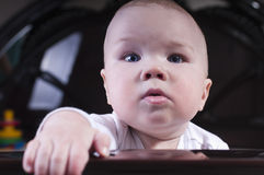Baby with blue eyes Stock Images