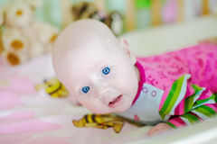 Baby With Blue Eyes Royalty Free Stock Photo