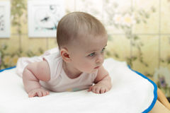 Baby with blue eyes Royalty Free Stock Images
