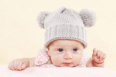 Baby with blue eyes portrait. Royalty Free Stock Photo
