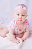 Baby with blue eyes smiling Royalty Free Stock Image
