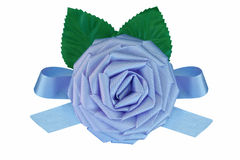 Baby blue fabric rose Royalty Free Stock Photo