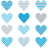 Baby Blue Heart Shape Pattern Royalty Free Stock Photos
