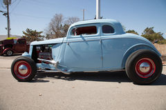 Baby blue hot rod in Oklahoma Royalty Free Stock Photos