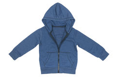 Baby blue jacket with a hood Stock Photography