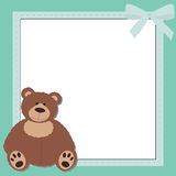 Baby blue photo frame Stock Images
