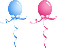 Baby Blue And Pink Balloon Stock Photos