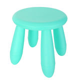 Baby blue plastic stool isolated on white Stock Images