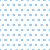 Baby Blue Polka Dots. Illustration of small light blue polka dots on white background Royalty Free Stock Photography