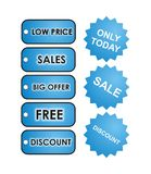 Baby Blue Sale Tags Stock Photography