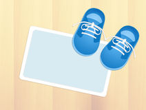 Baby blue shoes Royalty Free Stock Images