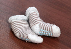 Baby blue socks Stock Photo
