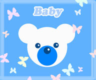 Baby Blue Teddy Bear Royalty Free Stock Photos