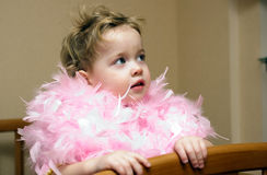 Baby in a boa Royalty Free Stock Images