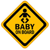 Baby on board. Sign isolated over white Stock Photography