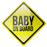 Baby on board Stock Photos