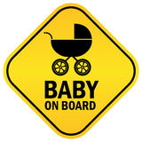 Baby on board. Rhombus sign Royalty Free Stock Photos