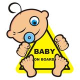 Baby on board, banner Royalty Free Stock Photo
