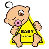 Baby on board, banner Royalty Free Stock Image