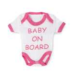 Baby on board Royalty Free Stock Photo