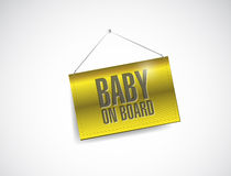 Baby on board fabric textured hanging banner Stock Images