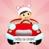 Baby on board. Illustration of baby on board Royalty Free Stock Photography