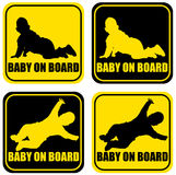 Baby on board label sticker Royalty Free Stock Image