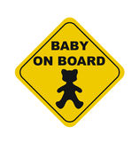 Baby on board sign Royalty Free Stock Images