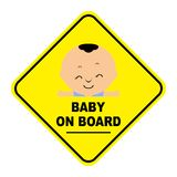 Baby On Board Sign. Illustration of baby on board sign royalty free illustration