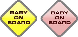BABY ON BOARD SIGN Royalty Free Stock Photo