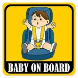 Baby on board sign Royalty Free Stock Photos