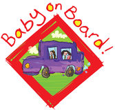Baby on board sign. Royalty Free Stock Images