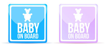 Baby on board sign illustration design royalty free illustration