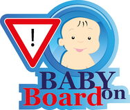 Baby on board sign Stock Images