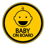 Baby on board sign. On white background Stock Image