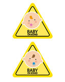 Baby on Board Signs Stock Photos