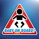 Baby on board sticker Royalty Free Stock Photo