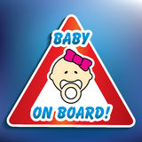 Baby on board sticker Royalty Free Stock Image