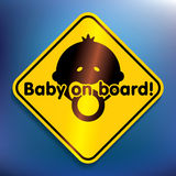 Baby on board sticker Stock Photography