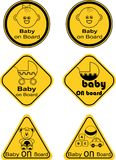 Baby on board sticker Stock Photos