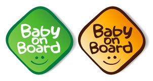 Baby on board stickers. Stock Photos