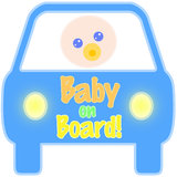 Baby on Board Tag Stock Image