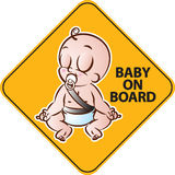 Baby on Board Royalty Free Stock Image