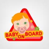 Baby on board Stock Photos