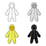 Baby bodysuit icon in cartoon style isolated on white background. Baby born symbol stock vector illustration. Baby bodysuit icon in cartoon style isolated on royalty free illustration