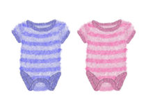 Baby bodysuits Royalty Free Stock Images